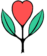 heart flower logo